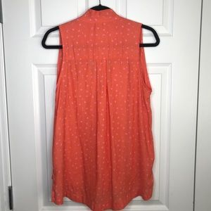 Free People Tops - Free People coral sleeveless blouse